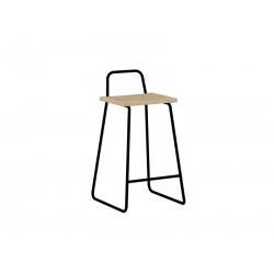 Барный стул Bauhaus черный / светлый шпон, Woodi
