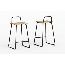 Барный стул Bauhaus черный, Woodi