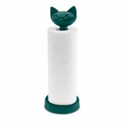 Держатель для бумажных полотенец miaou, тёмно-зелёный, Koziol