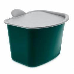 Контейнер для мусора bibo, зелёно-серое, Koziol