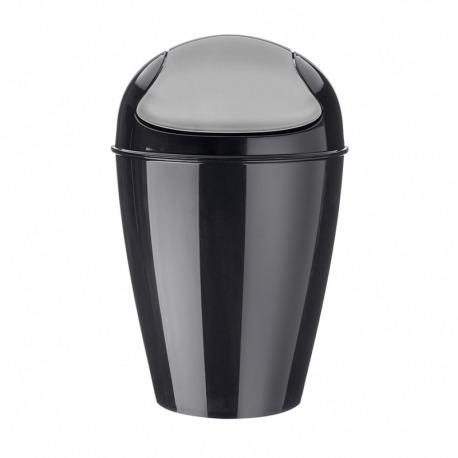 Корзина для мусора с крышкой del s, 5 л, чёрная, Koziol