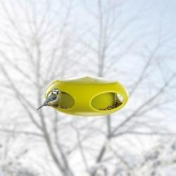 Кормушка для птиц pip, чёрно-зелёная, Koziol