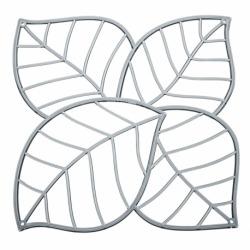 Набор из 4 декоративных элементов leaf, серый, Koziol
