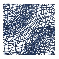 Набор из 4 декоративных элементов silk, синий, Koziol