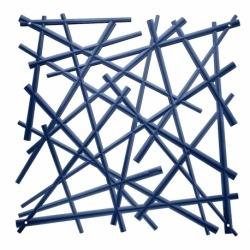 Набор из 4 декоративных элементов stixx, синий, Koziol