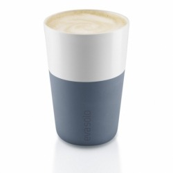 Чашки для латте, 2 шт., синяя сталь