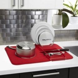 Коврик для сушки посуды udry красный, Umbra