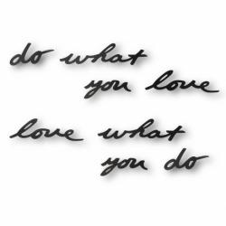 Надпись декоративная Do what you love настенная черная, Umbra