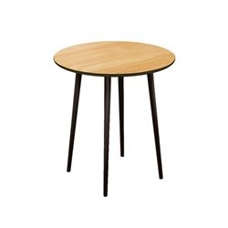 Большой круглый стол Спутник темно-коричневый / светлый шпон , Woodi
