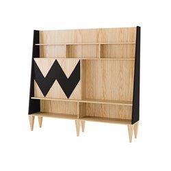 Стенка для гостиной Woo Wall черный / светлый шпон, Woodi