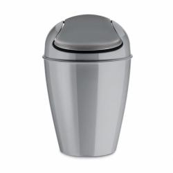 Корзина для мусора с крышкой Del S серая