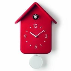 Часы с кукушкой qq красные, Guzzini