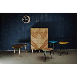 Столик журнальный Почка бирюзовый / светлый шпон, Woodi