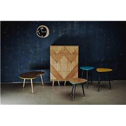 Столик журнальный Почка желтая охра / светлый шпон, Woodi
