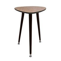 Приставной столик Капля темно-коричневый / светлый шпон, Woodi