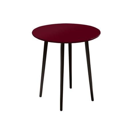 Маленький обеденный стол Спутник бордовый, Woodi