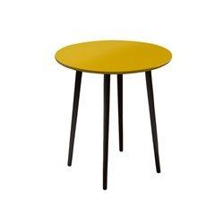 Маленький обеденный стол Спутник желто-горчичный, Woodi