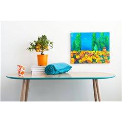 Столик журнальный Soap цвет морской волны / светлый шпон, Woodi