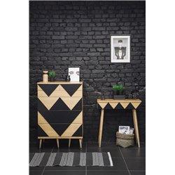 Комод с ящиками Big Woo темно-коричневый / светлый шпон, Woodi