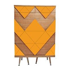 Комод с ящиками Big Woo оранжевый / светлый шпон, Woodi