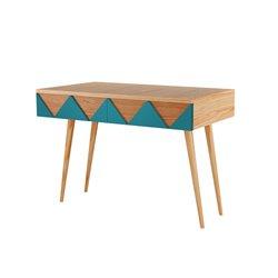 Письменный стол Woo Desk бирюзовый / светлый шпон, Woodi