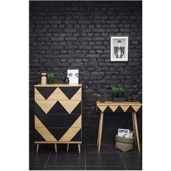 Письменный стол Woo Desk черный / светлый шпон, Woodi