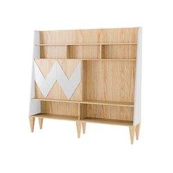 Стенка для гостиной Woo Wall белый / светлый шпон, Woodi
