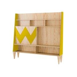 Стенка для гостиной Woo Wall желто-горчичный / светлый шпон, Woodi