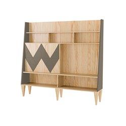 Стенка для гостиной Woo Wall кофейный / светлый шпон, Woodi