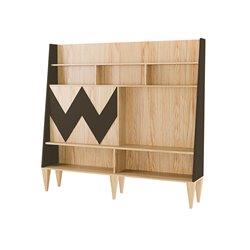 Стенка для гостиной Woo Wall темно-коричневый / светлый шпон, Woodi
