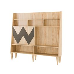 Большой шкаф для гостиной Woo Wall кофейный / светлый шпон, Woodi