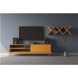 Мультимедиа тумба TIWI оранжевый / светлый шпон, Woodi