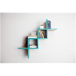 Полка для гостиной Woo Shelf цвета морской волны / светлый шпон, Woodi