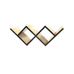Книжная полка Woo Shelf черный / светлый шпон, Woodi