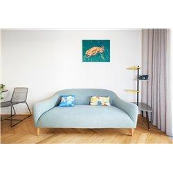 Декоративная подушка Geometry бирюзовый, Woodi