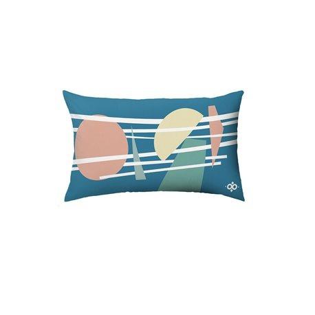 Подушка декоративная Geometry бирюзовый, Woodi