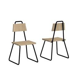 Стул Bauhaus черный / светлый шпон, Woodi