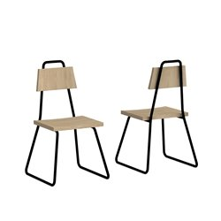 Стул Bauhaus бирюзовый / светлый шпон, Woodi