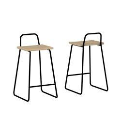Барный стул Bauhaus белый / светлый шпон, Woodi
