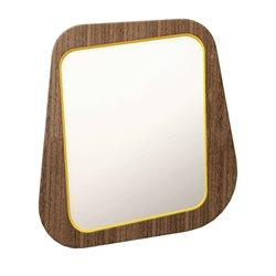 Зеркало Woodi малое в темном шпоне желто-горчичный, Woodi