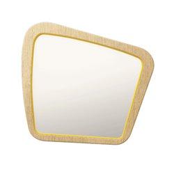 Зеркало Woodi среднее в шпоне желто-горчичный, Woodi