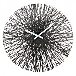 Часы настенные Silk чёрные, Koziol