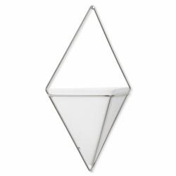 Декор для стен Trigg большой белый-никель, Umbra