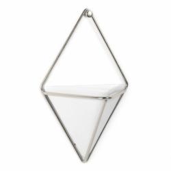 Декор для стен Trigg маленький белый-никель, Umbra