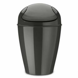 Корзина для мусора с крышкой del m, 12 л, тёмно-серая, Koziol