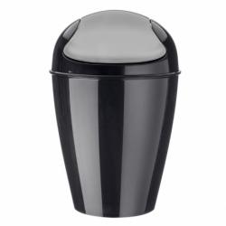 Корзина для мусора с крышкой Del M 12 л чёрная, Koziol