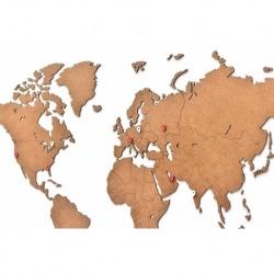 Карта-пазл wall decoration, 90х54 см, коричневая