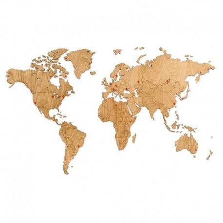 Карта-пазл wall decoration exclusive, 130х78 см, европейский дуб