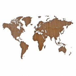 Карта-пазл wall decoration exclusive, 130х78 см, американский орех