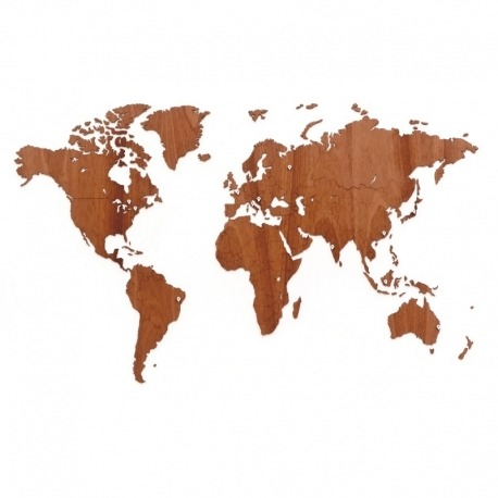 Карта-пазл wall decoration exclusive, 130х78 см, африканское сапеле